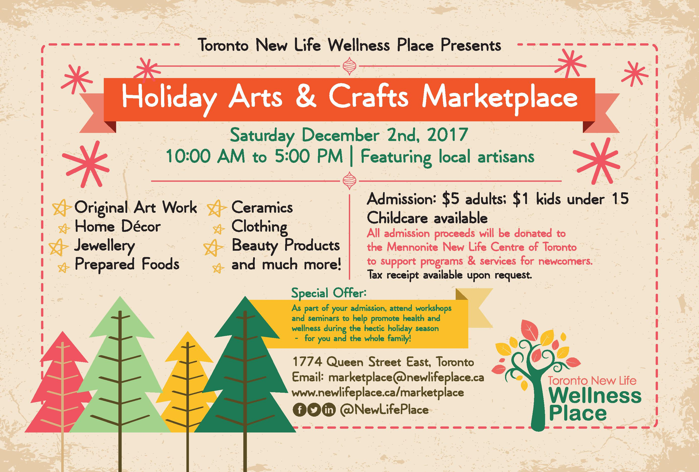 Dec 2 Holiday Arts & Crafts Marketplace