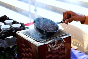 roasting coffee image